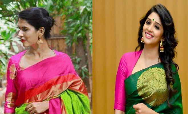 High neck silk saree blouse